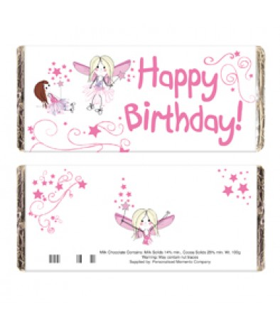 Fairy Birthday Chocolate Bar - Just for Gifts