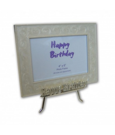 Personalised Photo frame - Happy Birthday (Easel)