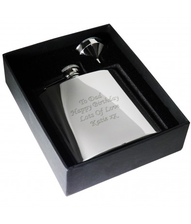 Personalised Boxed Stainless Steel Hipflask