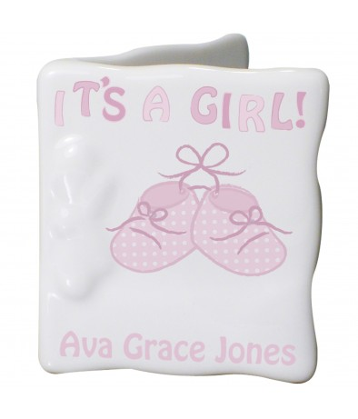 Personalised Bootee It's a Girl Message Card