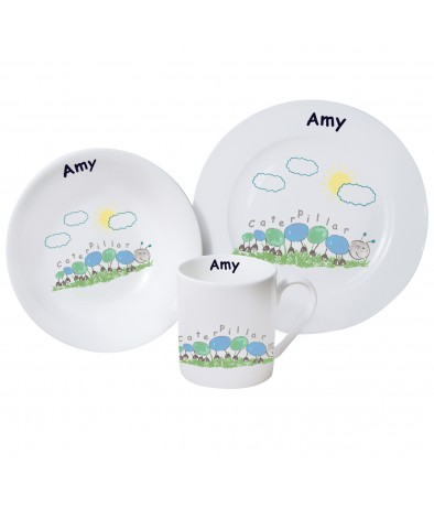 Personalised Breakfast Set - Caterpillar