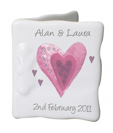 Personalised Hearts Message Card
