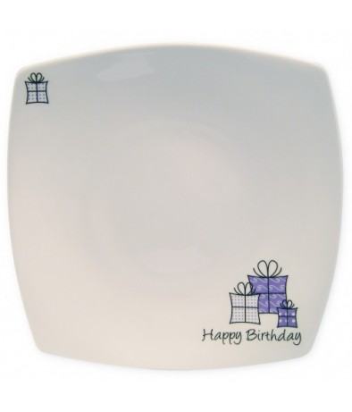 Personalised Message Plate - Lilac Presents