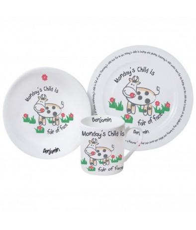 Personalised Breakfast Set -  Monday's Child