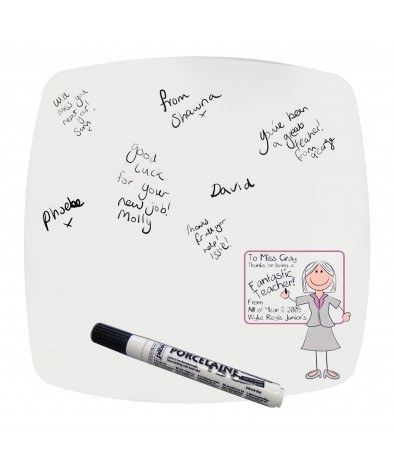 Personalised Message Plate - Teachers Whiteboard (Pink)