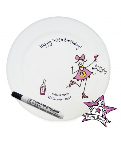 Personalised Purple Ronnie Happy Birthday P