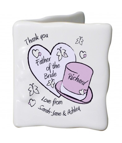 Personalised Message Card - Butterfly Hats (Wedding)