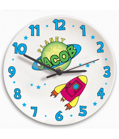Personalised Clock � Children's (Space)