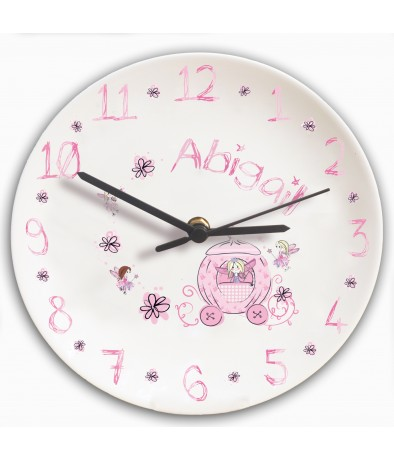 Personalised Clock for Girls Bedroom - Pumpkin Fairy
