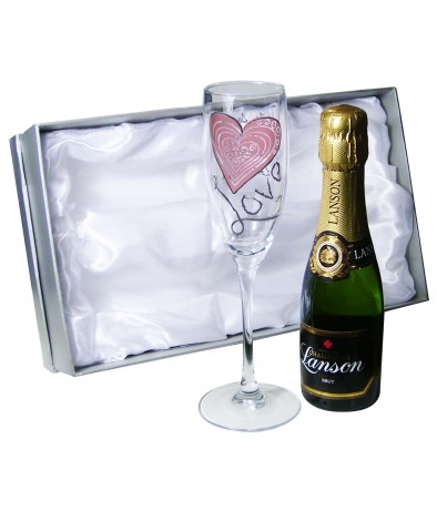 Personalised Love Mini Champagne Set