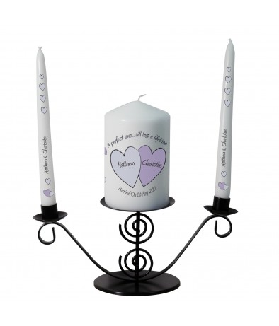 Personalised Candle Gift Set - Perfect Love