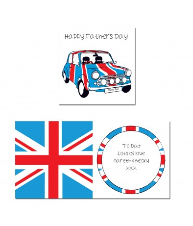 Personalised Card for Mini Owners (Union Jack Mini)