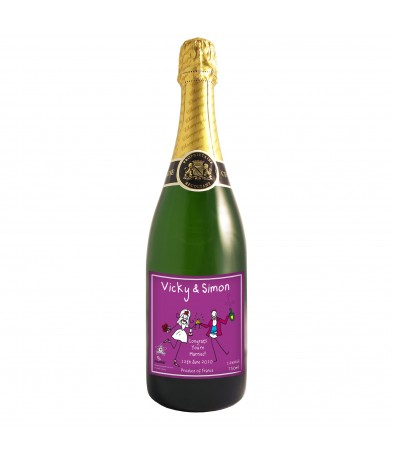 Personalised Purple Ronnie You're Married Champagne
