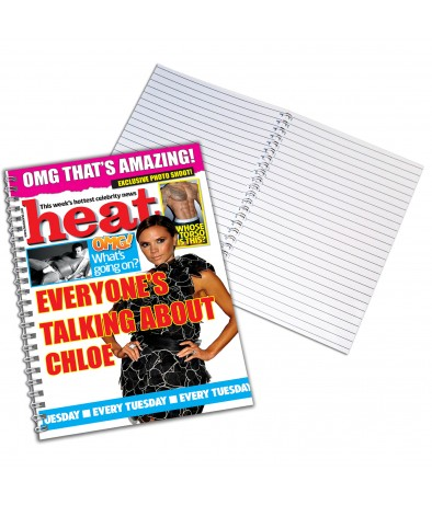Personalised Heat - A4 Notebook