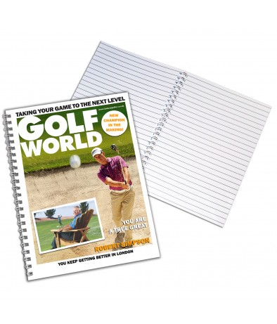 Personalised Golf World - A4 Notebook