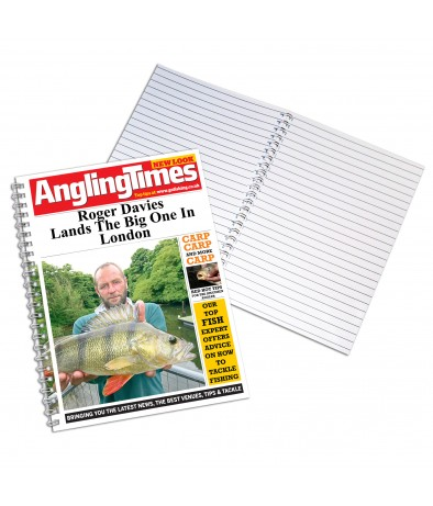 Personalised Angling Times - A4 Notebook