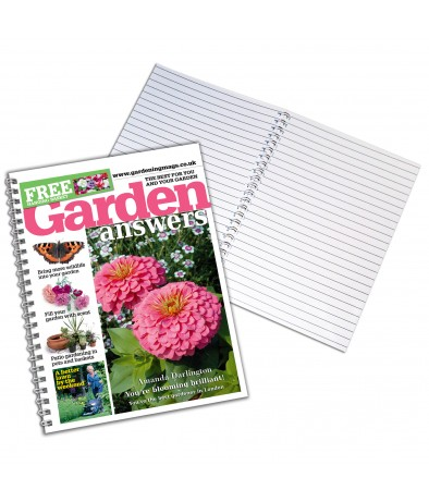 Personalised Garden Answers - A4 Notebook