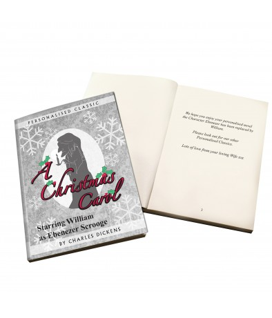 Personalised Story book - A Christmas Carol (1 Name)