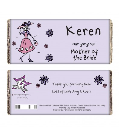 Personalised Wedding Gifts Mother Of The Bride : Personalised Purple Ronnie Wedding Mother of the Bride Chocolate ...