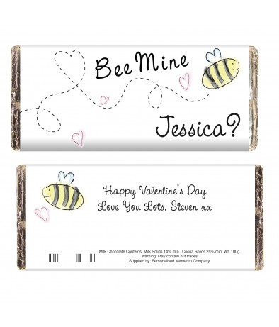Personalised Bee Mine Chocolate Bar