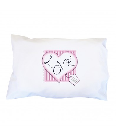 Personalised Heart Stitch Love Pillowcase