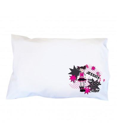 Personalised Too Cool Girl Pillowcase