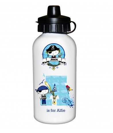 Personalised Boys Drinks Bottle - Pirate (Letter)