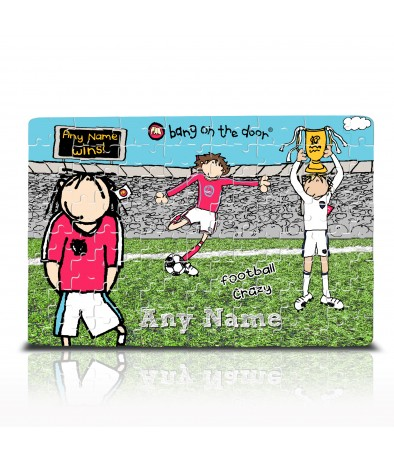 Personalised Jigsaw - Bang on the Door (Football Crazy)