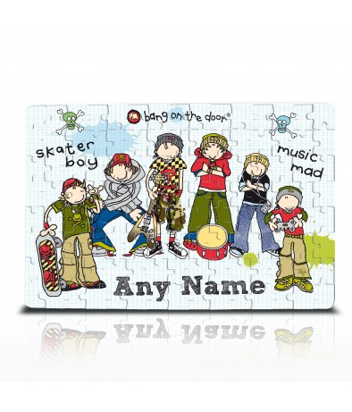 Personalised Jigsaw - Bang on the Door (Skater Boy)