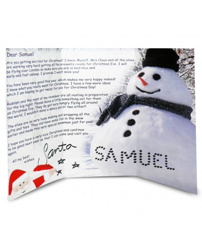 Personalised Letter From Santa - Snowman