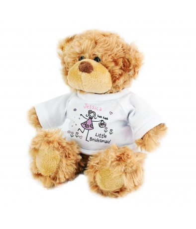 Personalised Teddy Bear - Purple Ronnie (Little Bridesmaid)