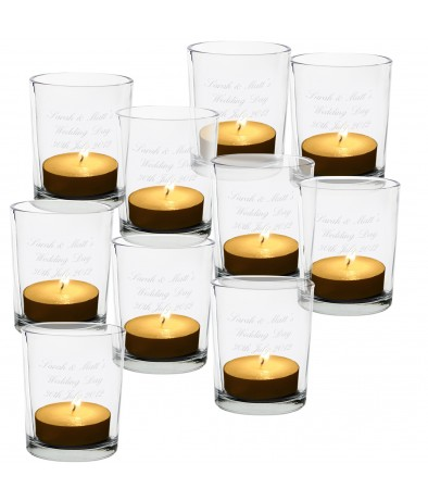 Pack of 10 Personalised Votive