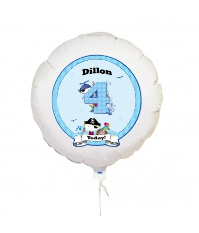 Personalised Balloon - Pirate (Numbers)