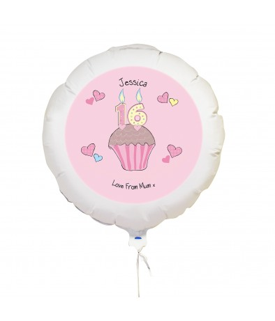 Personalised Balloon - Cupcake