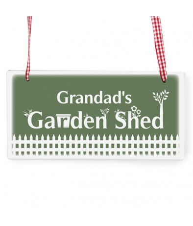 Wooden Rectangle Sign - Garden Shed
