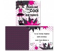 Personalised Too Cool Girl Card