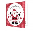 Personalised Card for Christmas - Spotty Santa
