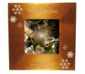 Personalised Merry Christmas Snowflakes Photoframe