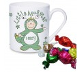 Personalised Little Monster Mug with Chocolates