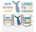 Personalised Living for the Weekend Mug