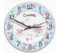 Personalised Clock - Floral Birds