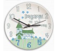 Personalised Boys Clock - Christening (Church � Blue)