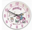 Personalised Girls Clock - Bang on the Door (Pony Girl)