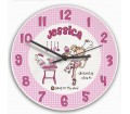 Personalised Girls Clock - Bang on the Door (Dainty Dish)
