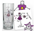 Personalised Purple Ronnie Wedding Hi Ball Glass Little Bridesmaid