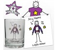 Personalised Purple Ronnie Wedding Little Usher Juice Glass
