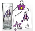 Personalised Purple Ronnie Wedding Father of the Bride Pilsner