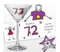 Personalised Purple Ronnie Age Elder Female Cocktail Glass