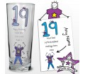 Personalised Purple Ronnie Age Young Male Pilsner