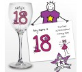 Personalised Purple Ronnie Age Young Female Wine Glass